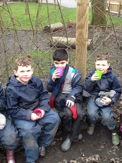 A hot vimto to warm up at the end of a fun day.
