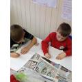 Sketching 'Burdened Children'.