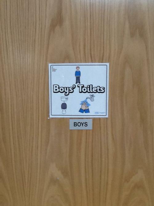 The boys toilets