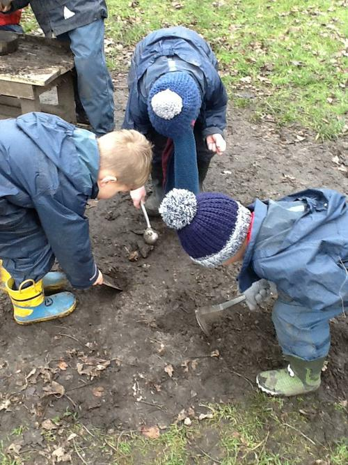Explorers - digging for gold.