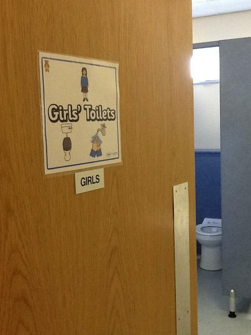 The girls toilets