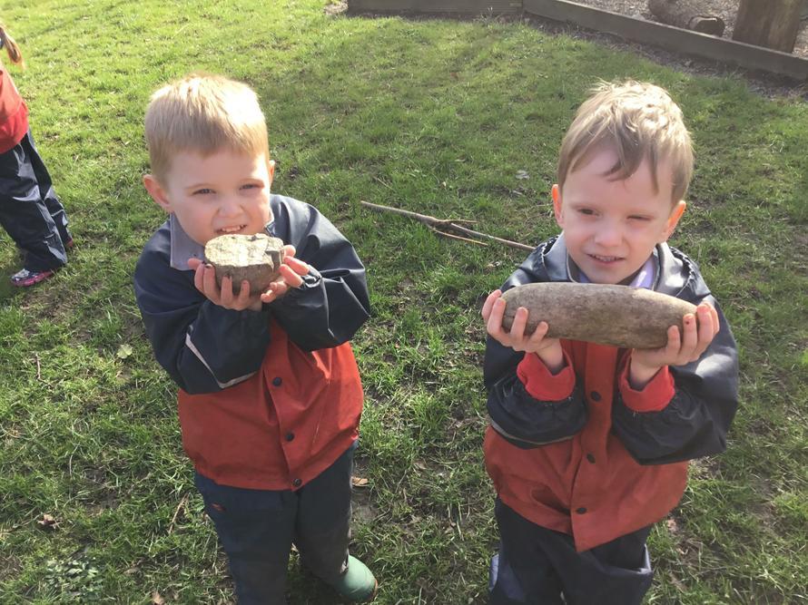 The boys found hidden dragon eggs.
