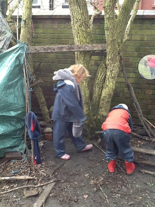 Explorers - making a shelter.