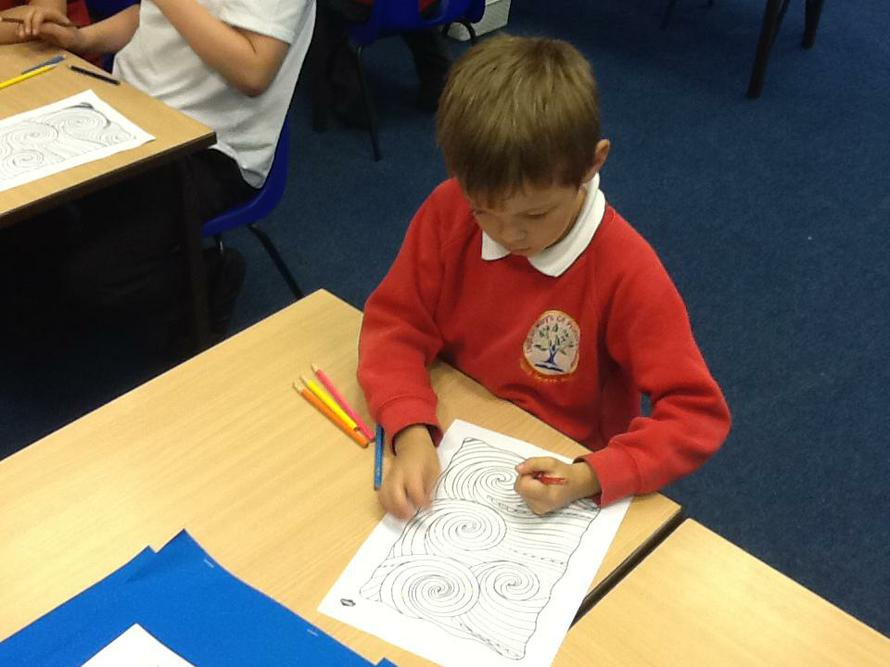 We carried out mindfulness activities too.