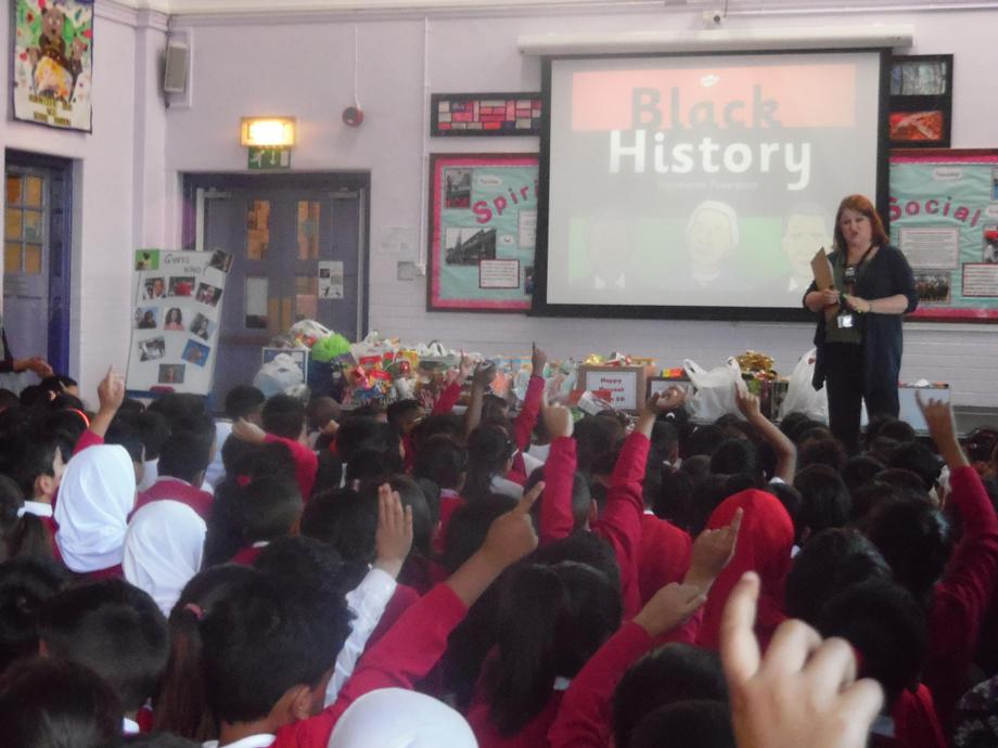 Mrs William's assembly to introduce the day.