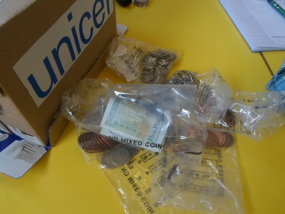 We needed lots of money bags