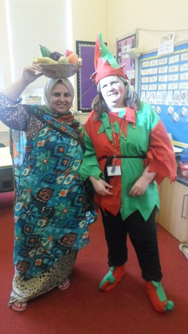 Who are  Mrs Khan & Mrs Alder are dressed up as?