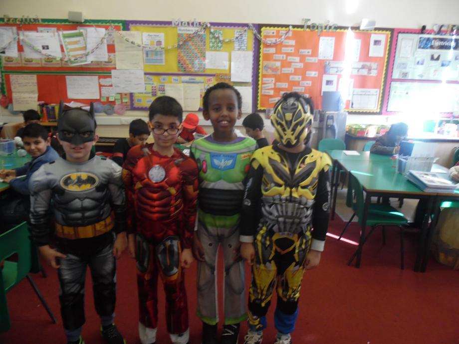 So many superheros......
