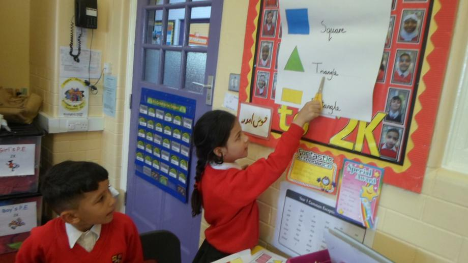 Using the working wall to help.