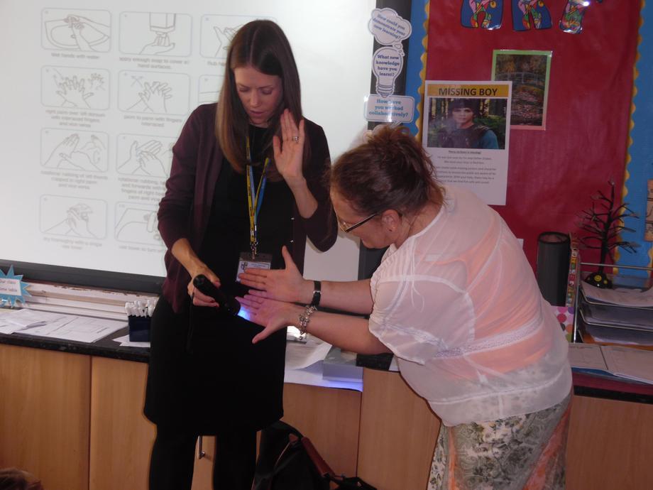 How clean are your hands Mrs Jones?