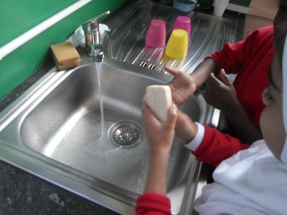 A thorough hand wash.