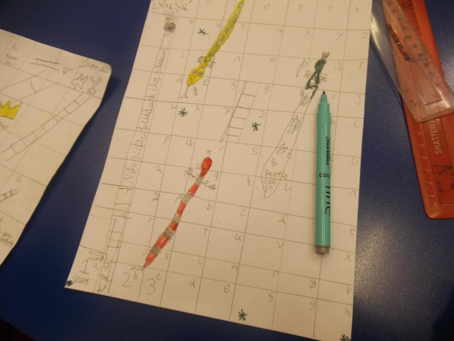 Creating our own Maths board game.