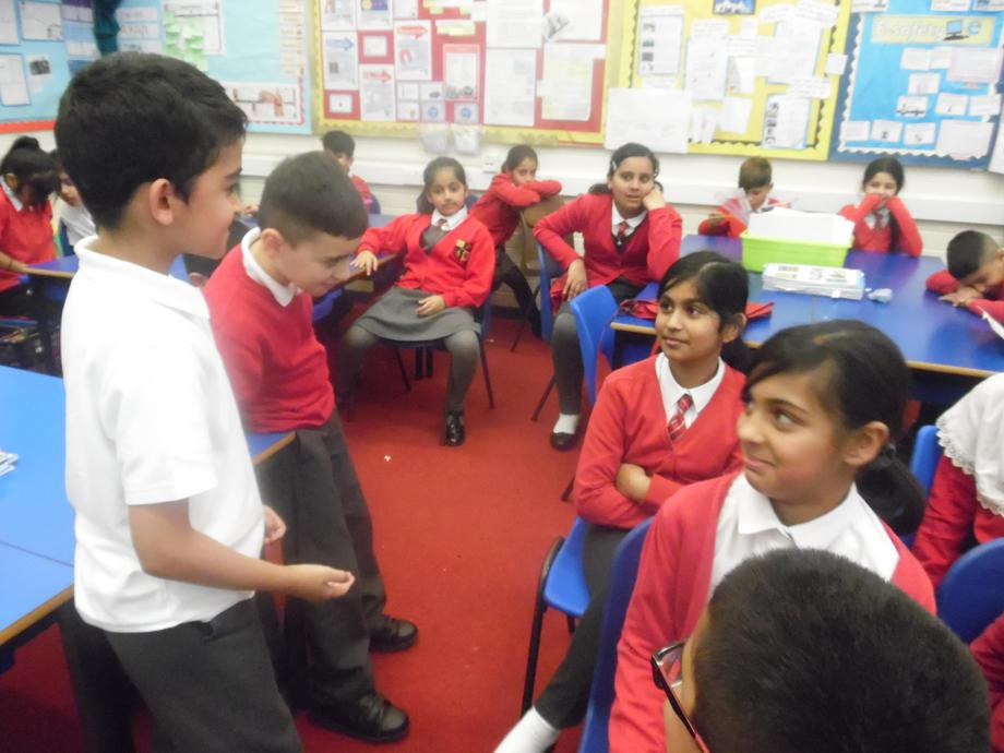 Some role play. Can you spot Rosa Park?