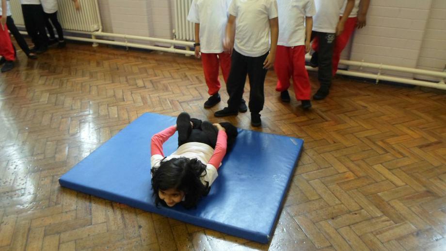 Balancing on large body parts
