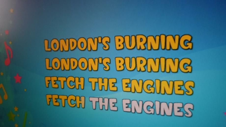We are learning to sing 'London's Burning'.