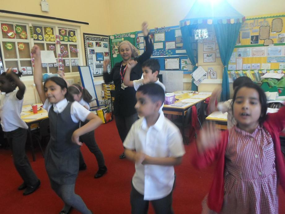 Mrs Sharifff demonstrates her moves