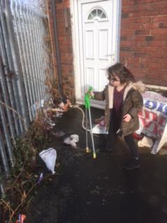 Tidying St. Mark's church yard