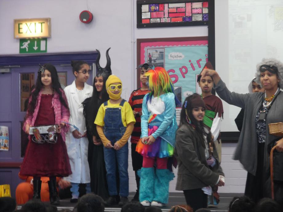 World Book day winners announced in assembly.