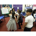 2F showing off their dance moves.