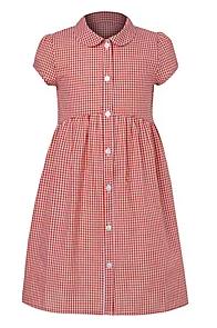 Red gingham summer dress