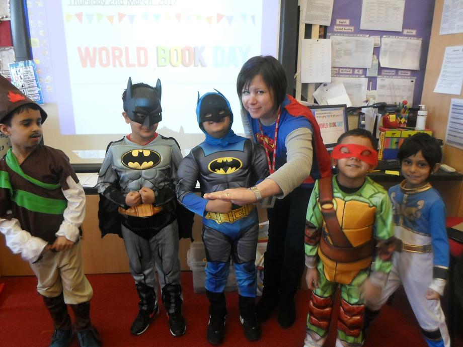 Ms Bailey and her 'Superheroes.'