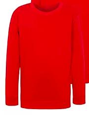 Plain red sweatshirt or fleece