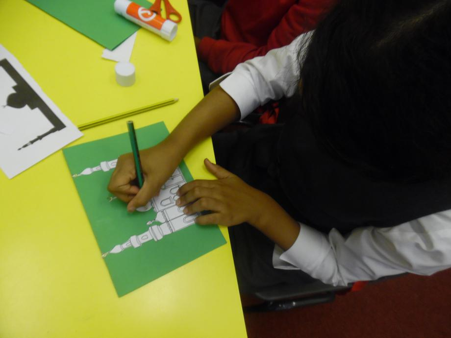 making Eid cards