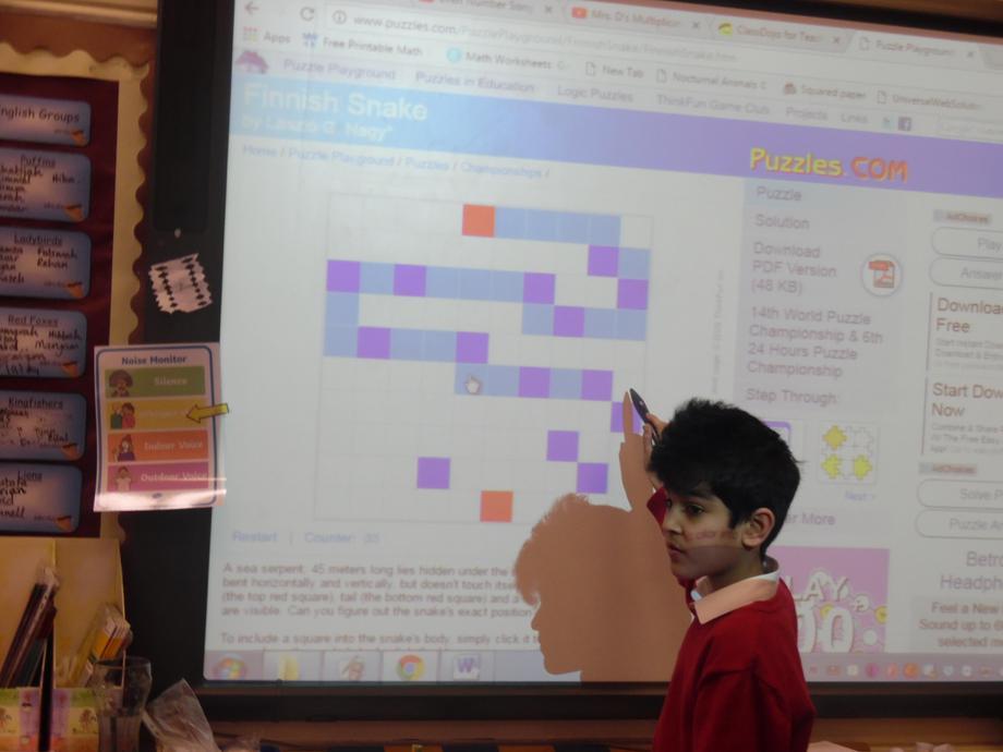 Solving online puzzles.