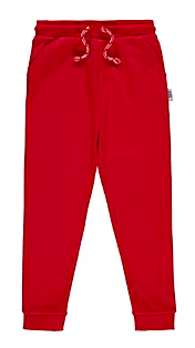 Plain red joggers