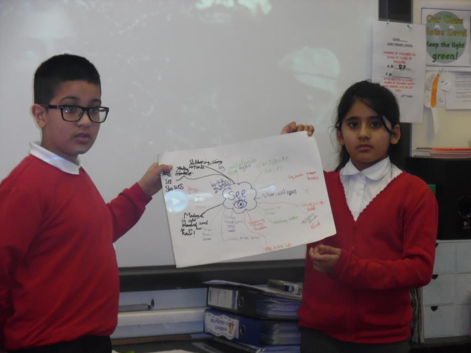 Sharing our ideas with the rest of the class.