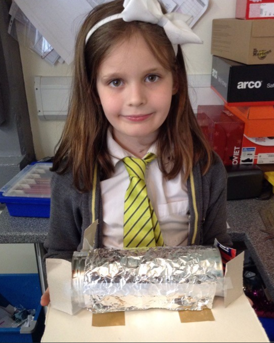 Year 5 have designed and made Air Raid Shelters