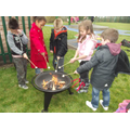 Camp fire fun! Mmm...toasted marshmallows!!