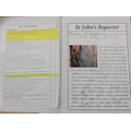 Year 3 Autumn term - Writing a Newspaper Report
