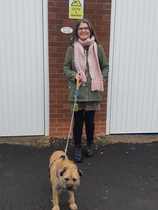 Mrs Noble a Nursery assistant who loves to walk her dog
