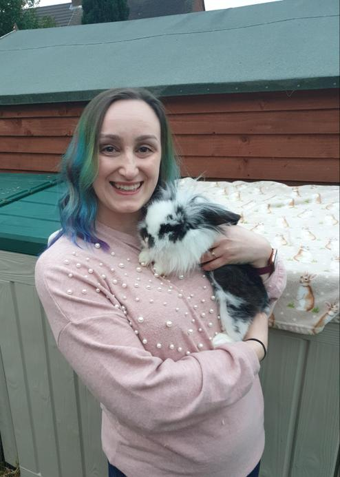 Mrs Houghton, a TA in Year 2 who has a collection of 26 rabbits at home