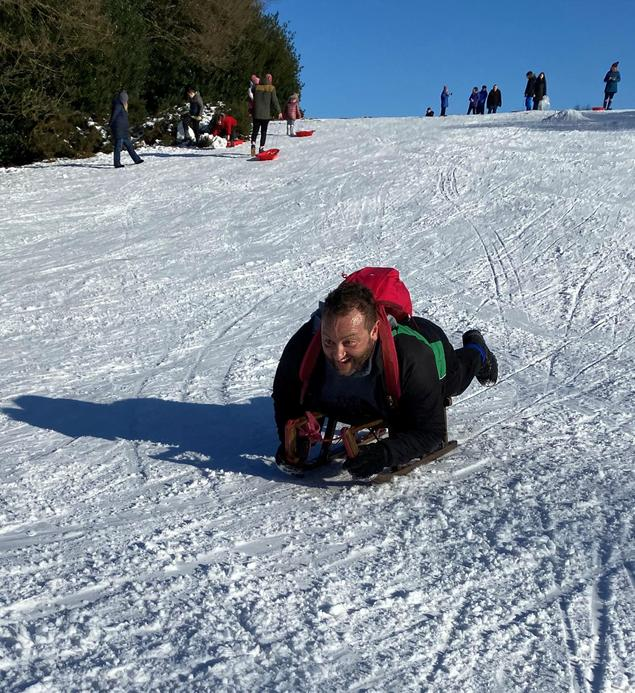 Mr Vlahakis, our Executive Head Teacher with enthusiasm for adventure!