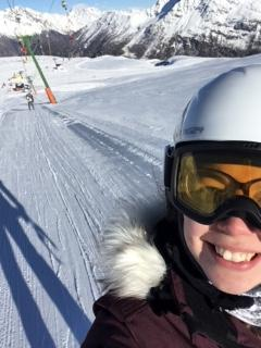 Mrs Tolley an Early Years practitioner who can be found on the slopes
