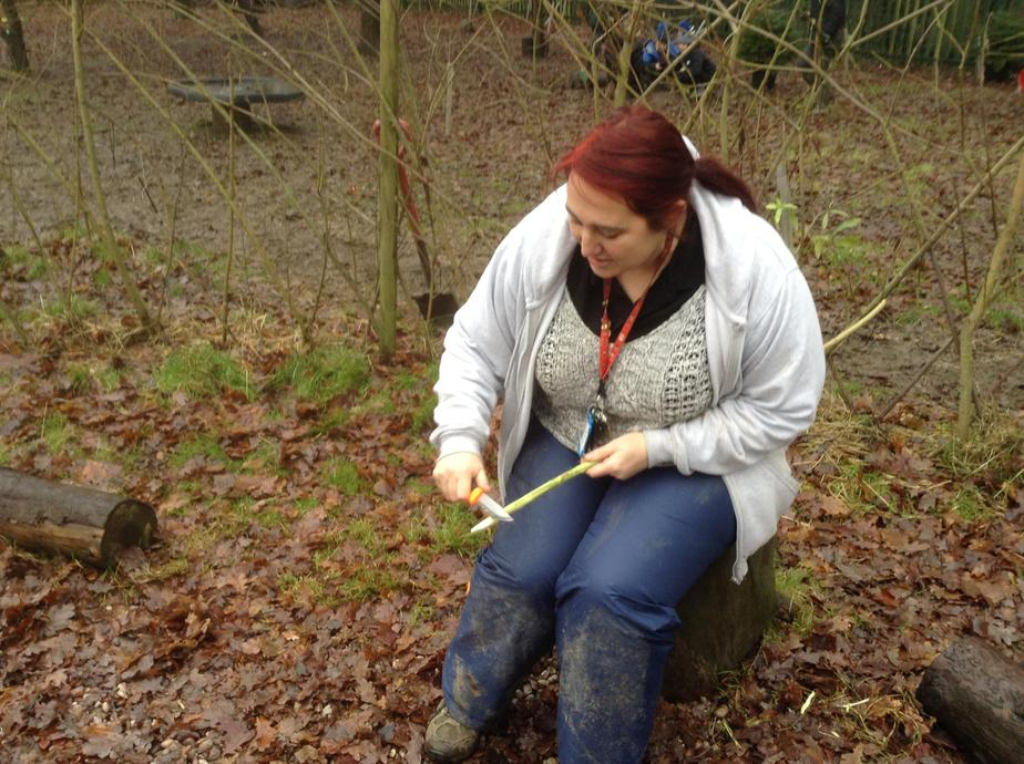 Miss Stanley is our key Stage 1 Forest School leader