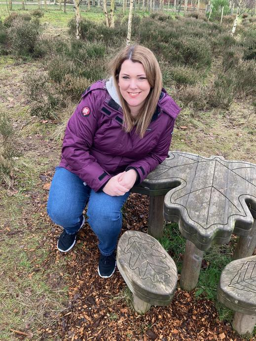 Mrs Wiseman, a TA in KS2 who likes to spend time outdoors