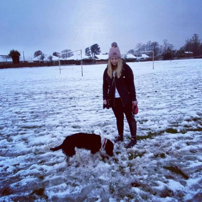 Miss Gibbs a Reception teacher and Early Years SENCO who loves a walk with her dog Ralphy