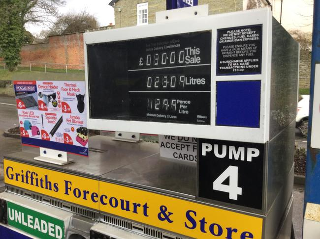 The pumps can calculate the amount of fuel.