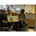 Harry, Mum and Lilah read The Scarecrows Wedding.