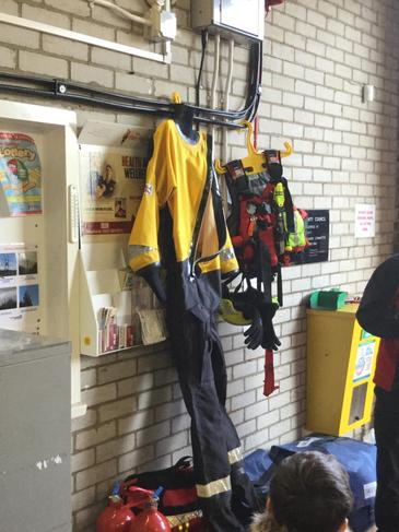 A special suit for rescuing people in water