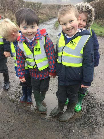 We had great fun splashing in the puddles!