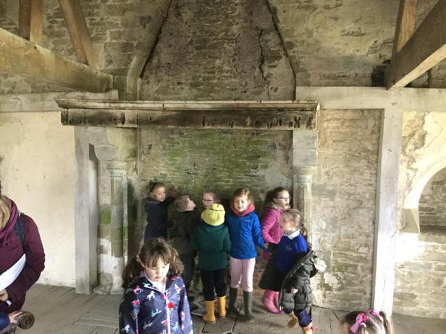Castles had fires to keep warm