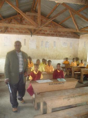 Mr Pallangyo in a classroom