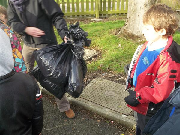 We collected lots of rubbish.