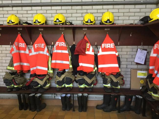 The fire crew are always ready to go.