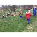 We fed the ducks.