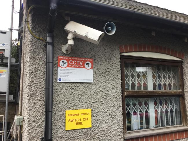 The garage uses CCTV to watch the forecourt.